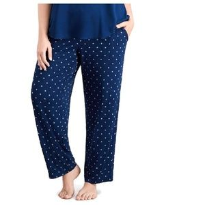 Alfani Soft Knit Star Print Pajama Lounge Pants